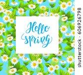 floral spring card | Shutterstock .eps vector #606926798