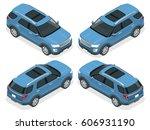 off road write car. modern vip... | Shutterstock .eps vector #606931190