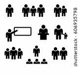 people group icon set. vector | Shutterstock .eps vector #606935798