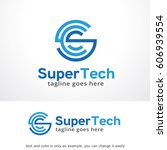 super tech logo template vector ... | Shutterstock .eps vector #606939554