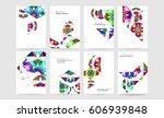 memphis geometric background... | Shutterstock .eps vector #606939848