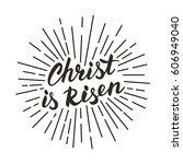 christ is risen  modern black... | Shutterstock .eps vector #606949040