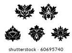 set of flower patterns. vector... | Shutterstock . vector #60695740