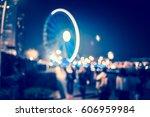 blue tone bokeh city night | Shutterstock . vector #606959984