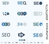 seo  search engine optimization ... | Shutterstock .eps vector #606974774