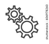 gear thin line vector icon....   Shutterstock .eps vector #606978260