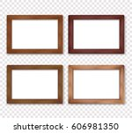 Wooden Vector Photo Frame...