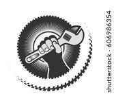 emblema  logo to a service... | Shutterstock . vector #606986354