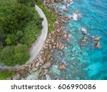 seychelles la digue island... | Shutterstock . vector #606990086