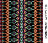 vector seamless texture. tribal ... | Shutterstock .eps vector #606991748
