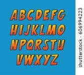 creative font. vector alphabet... | Shutterstock .eps vector #606994223