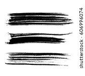 set of ink vector brush strokes.... | Shutterstock .eps vector #606996074