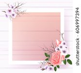 beautiful square frame with... | Shutterstock .eps vector #606997394