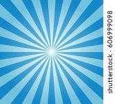 sunburst background blue color   Shutterstock .eps vector #606999098