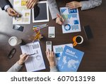 group of business people... | Shutterstock . vector #607013198