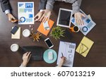 group of business people... | Shutterstock . vector #607013219