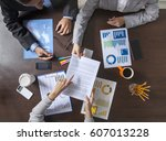 group of business people... | Shutterstock . vector #607013228