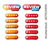 review star button vector | Shutterstock .eps vector #607014494