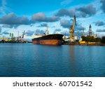 shipyard  dockyard  shiprepair... | Shutterstock . vector #60701542