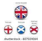 united kingdom flag  england ... | Shutterstock .eps vector #607024064