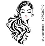 illustration of women long hair ... | Shutterstock .eps vector #607026740