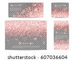 glitter sparkle background with ... | Shutterstock .eps vector #607036604