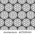 modern decorative geometric... | Shutterstock .eps vector #607039424