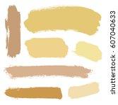 vector set of grunge brush... | Shutterstock .eps vector #607040633