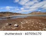 pedra lume salt crater   sal... | Shutterstock . vector #607056170