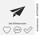 paper airplane  icon. one of...