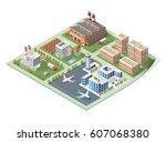 set of isolated high quality... | Shutterstock .eps vector #607068380