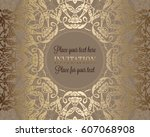luxury ornament  lace in... | Shutterstock .eps vector #607068908