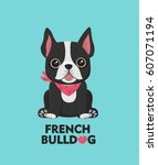 dog breed french bulldog. the...   Shutterstock .eps vector #607071194