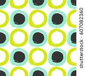 hipster simple round brush... | Shutterstock .eps vector #607082360