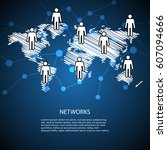 connecting people through...   Shutterstock .eps vector #607094666