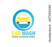 car wash service logo with text ... | Shutterstock .eps vector #607096544