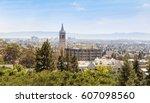 berkeley university with clock... | Shutterstock . vector #607098560