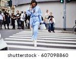 milan  italy   september 22 ... | Shutterstock . vector #607098860