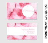 art of watercolor stains of... | Shutterstock .eps vector #607100723