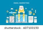 creative concept of email... | Shutterstock .eps vector #607103150