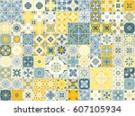seamless pattern with with... | Shutterstock .eps vector #607105934