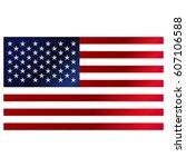 american flag vector. | Shutterstock .eps vector #607106588