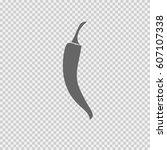 chili pepper vector icon eps 10 ...   Shutterstock .eps vector #607107338