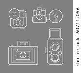 camera vectors   vintage   used ...   Shutterstock .eps vector #607115096