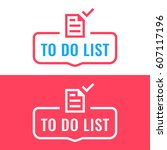 to do list. badge with document ... | Shutterstock .eps vector #607117196