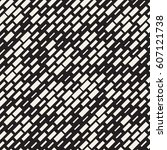 vector seamless black and white ... | Shutterstock .eps vector #607121738