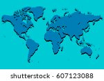 world map | Shutterstock .eps vector #607123088