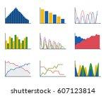 business data graph analytics... | Shutterstock .eps vector #607123814