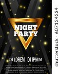 night party flyer template.... | Shutterstock .eps vector #607124234