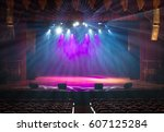 the stage of the theater... | Shutterstock . vector #607125284